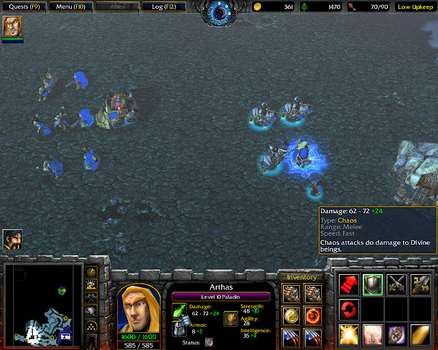 Frostmourne Mission 11 | Chaos Damage Screenshot | Warcraft 3: Reign of Chaos