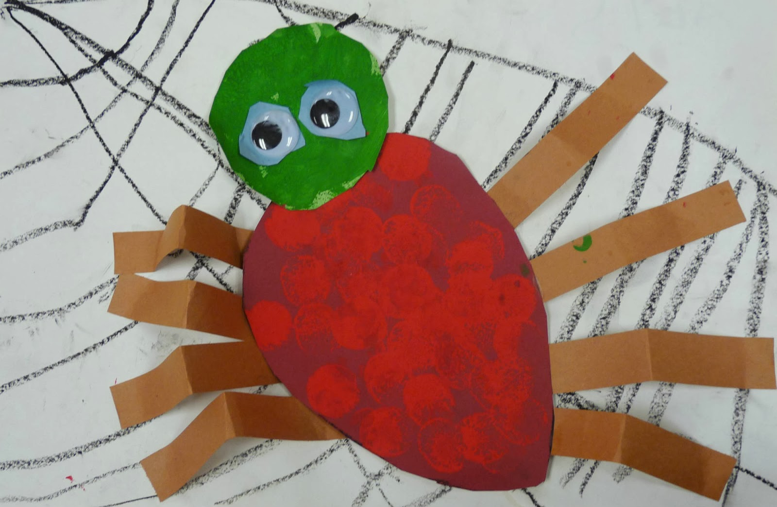 Art Paper Scissors Glue The Very Busy Spider