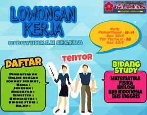 Lowongan Kerja Tentor di LBB Gadjahmada Makassar