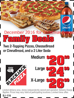 free Black Jack Pizza coupons for december 2016