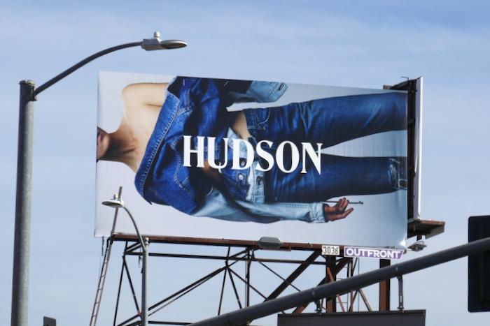 Hudson Jeans denim billboard