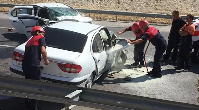 Kızlar mevkiinde kaza: 6 yaralı