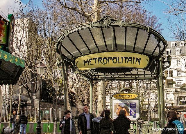 Art Noveau em Montmartre: Estação Abbesses do Metrô