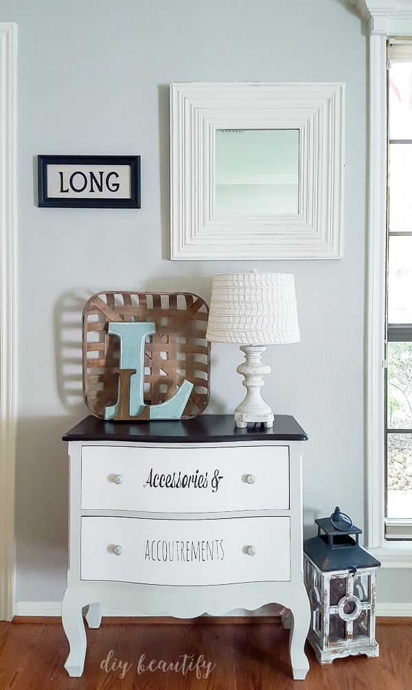 painted and stenciled dresser