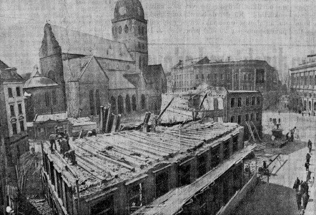 1937 год. Рига. Снос домов на площади 15 Мая (Домской площади)