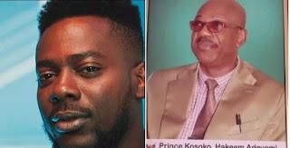 Adekunle Gold mourns father