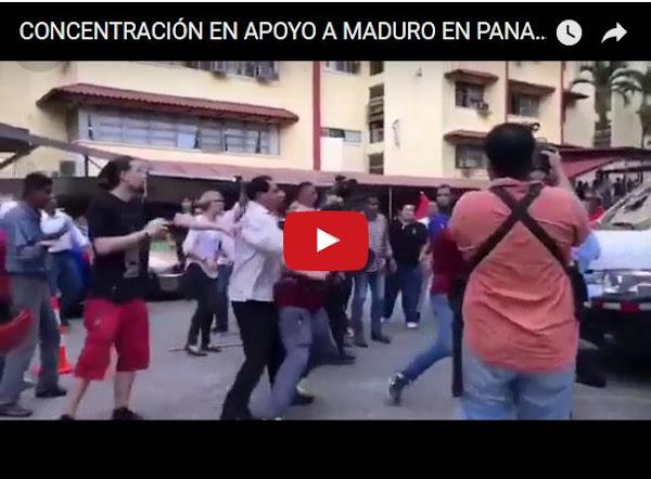 Concentración en Panamá contra Maduro termina en trifulca