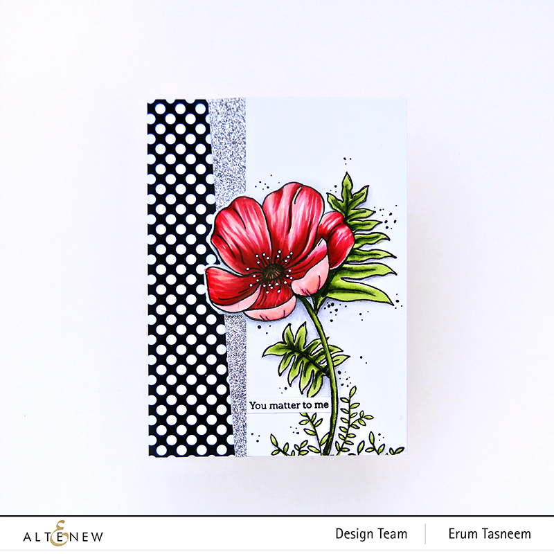 Altenew Paint-A-Flower: Poppy Stamp Set + Artist Markers | Erum Tasneem | @pr0digy0