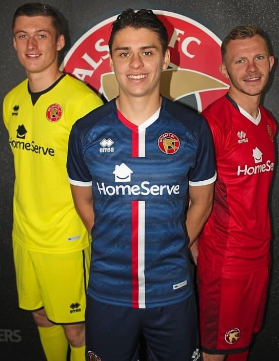 ウォルソールFC 2018-19 ユニフォーム-ホーム