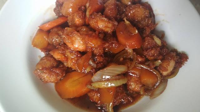 resep udang tepung saus tiram