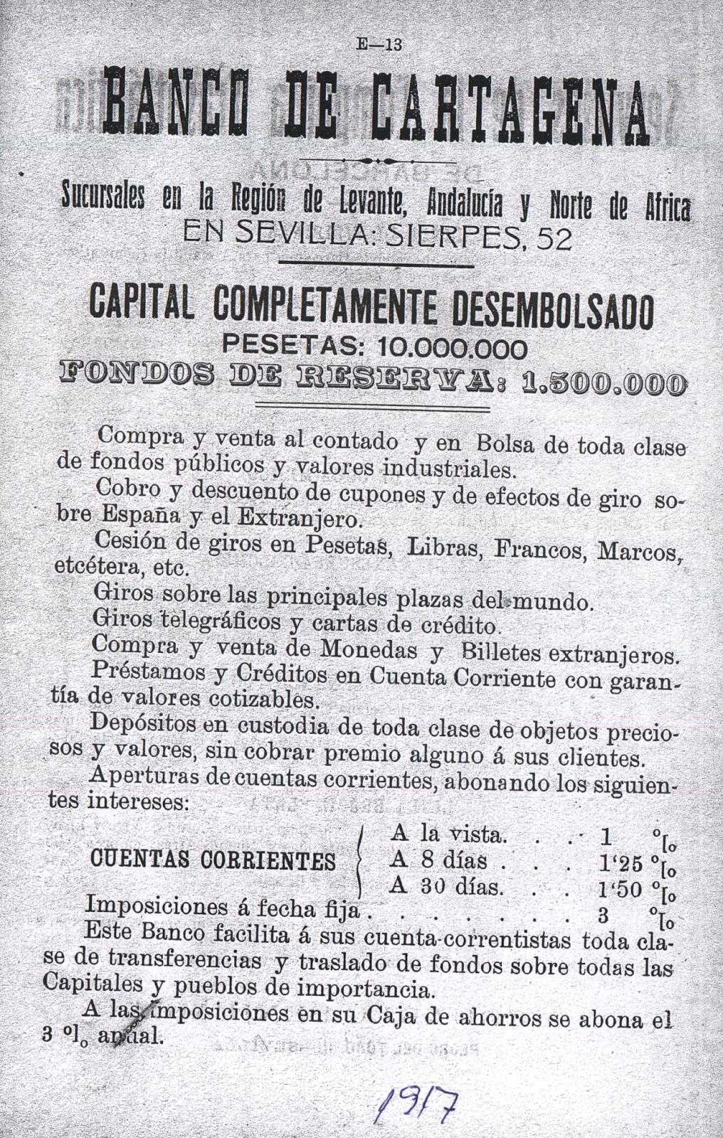 Banco de cartagena aportes para una historia de la banca for Sucursales banco espana