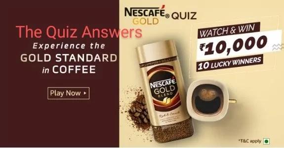 अमेज़ॅन Nescafe Gold क्विज़ अभी जीते - Rs.1,000 Amazon Pay Balance
