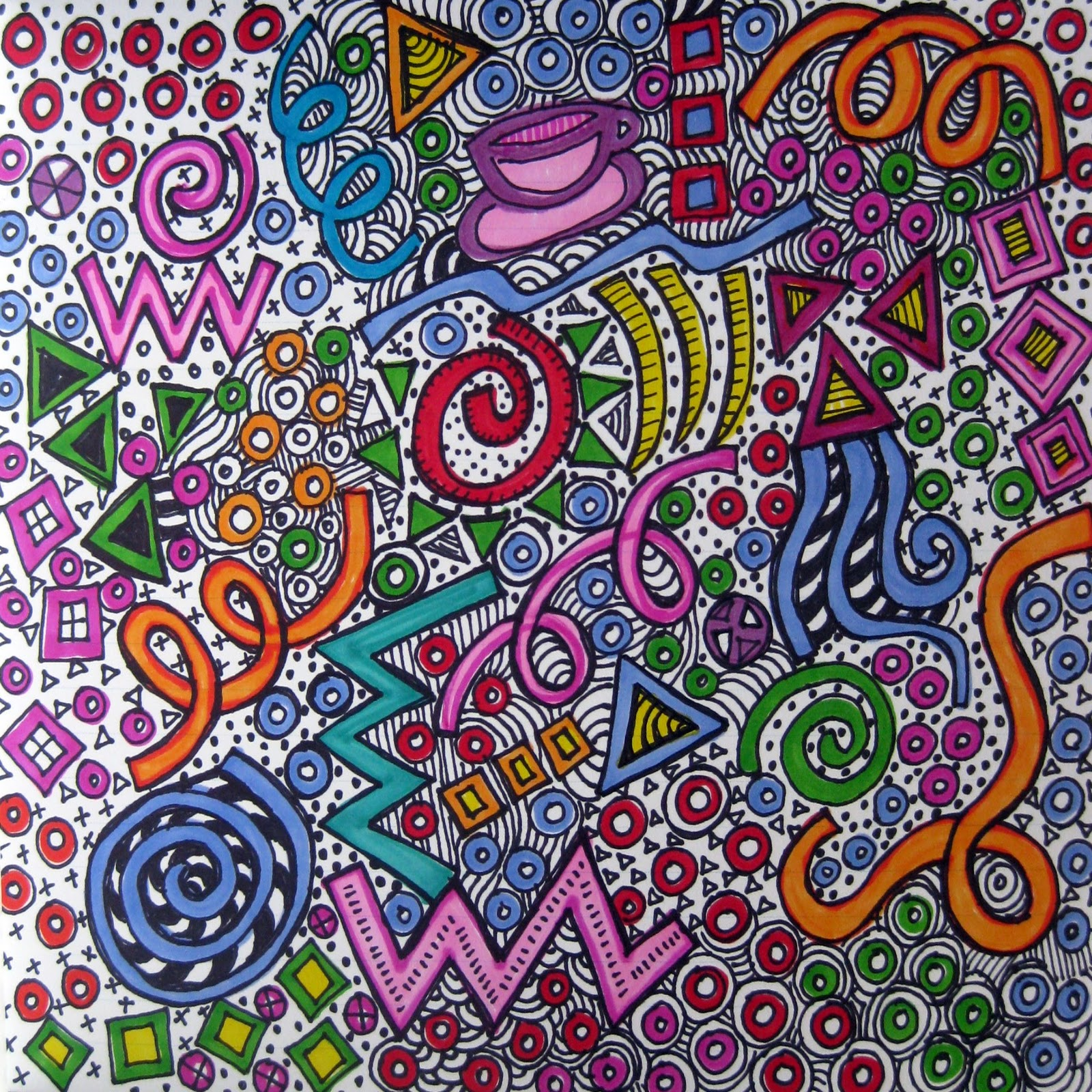 The gallery for --> Colorful Sharpie Doodles
