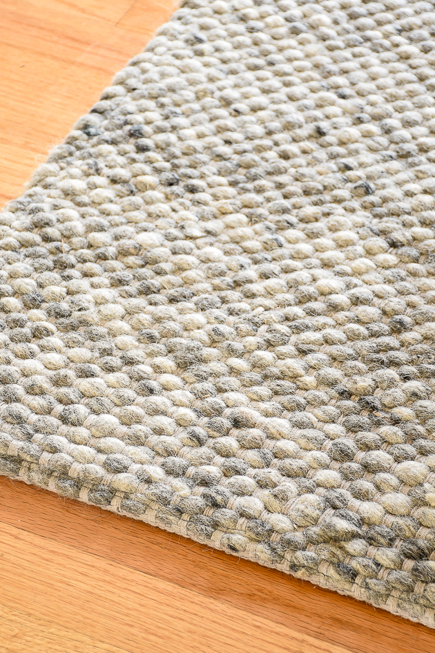 Chunky wool rug, modern farmhouse