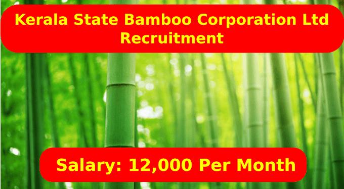 Kerala State Bamboo Corporation Limited Recruitment