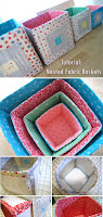 Tutorial: Nested Fabric Baskets / Stack & Nest Quilted Blocks