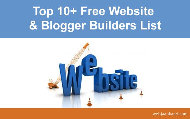 Web builders for websites and blogs, website and blog builder,free best free website builder,free site builder,websites and blogs creator, blog maker