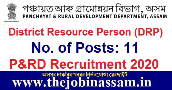 P&RD Recruitment 2020