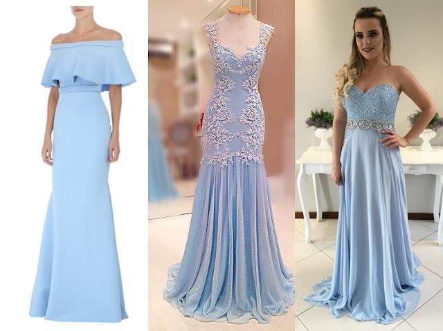 vestido de festa azul claro candy color 2017