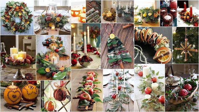 50+ Χριστουγεννιάτικες ιδέες - κατασκευές με Φρούτα, Καρπούς, Μπαχαρικά