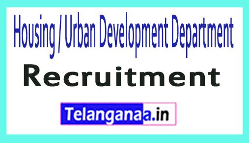 Housing / Urban Development Department HUDD Recruitment