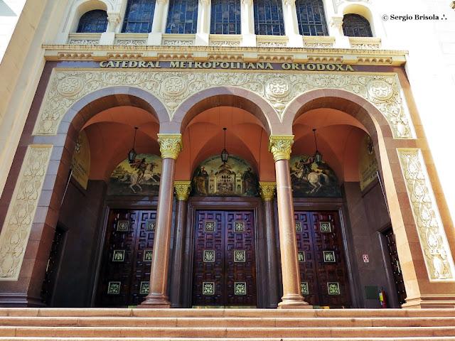 Vista da Entrada da Catedral Metropolitana Ortodoxa SP - Paraíso - São Paulo