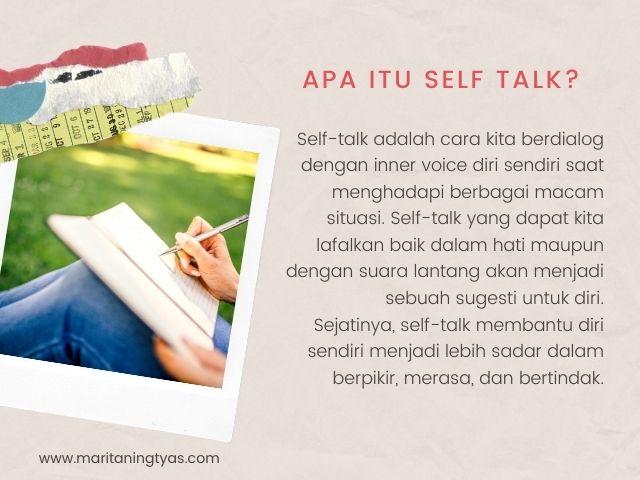 pengertian self talk