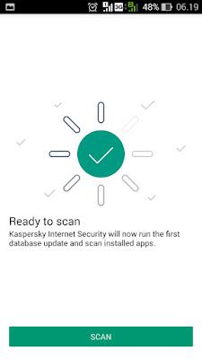 scan android dengan aplikasi kaspersky pemblokir iklan