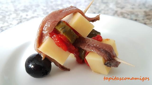 Torera de queso con pimiento