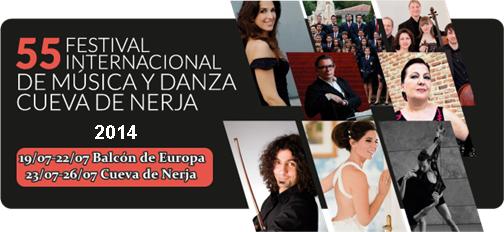 55 Festival Internacional de Música y Danza de la Cueva de Nerja, del sábaddo 19 de Julio de 2014 al sábado 26 de Julio de 2014