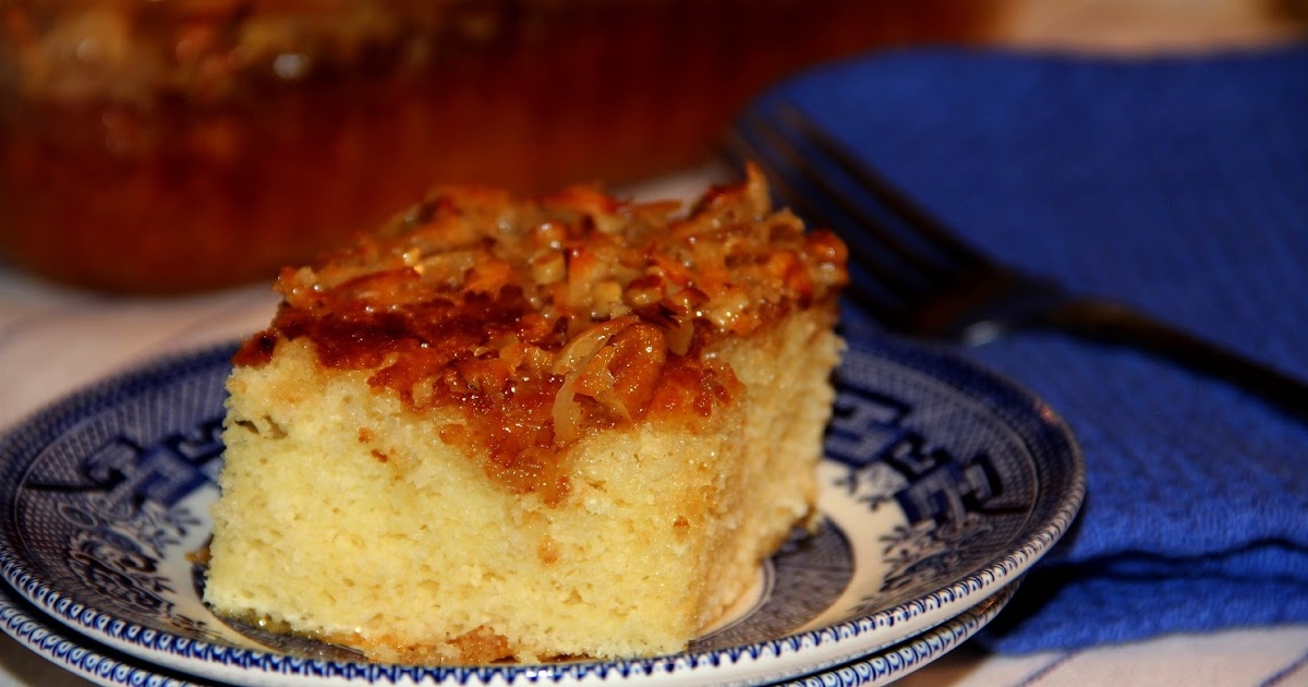 Recipe For Busy Day Cake And Broiled Coconut Topping
