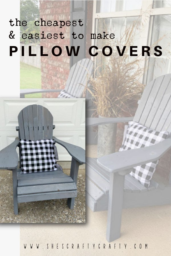 The Cheapest and Easiest To Make Pillow Covers