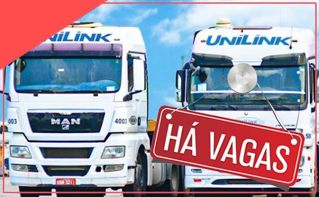 Transportadora Unilink abre vagas para Motorista