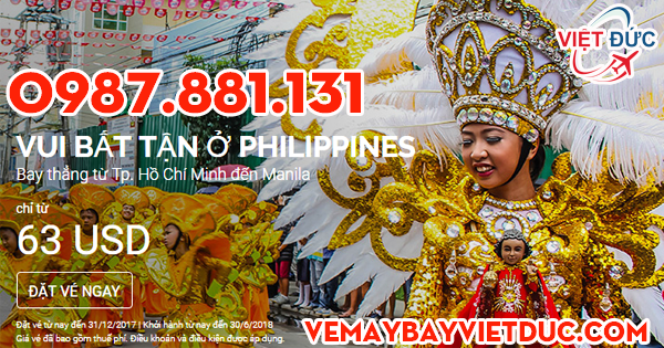 Khuyến mãi đi philippiens giá 63 usd từ Air Asia