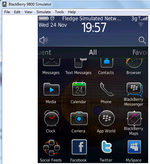 Blackberry android emulator