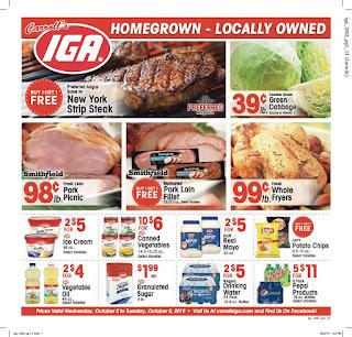 ⭐ IGA Ad 10/16/19 ⭐ IGA Circular October 16 2019
