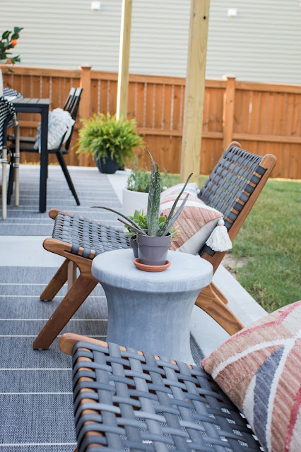 A Modern, Stylish Patio on a Budget