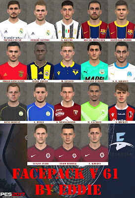 PES 2017 Facepack v61 by Eddie
