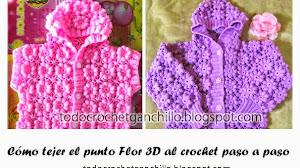 Cómo tejer el punto Flor 3D paso a paso en fotos y video