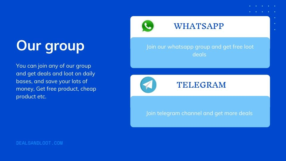 loot deal whatsapp and telegram group