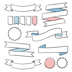 Free Download Hand Drawn Vector Banners