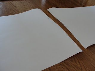 blank paper for Canada flag craft for kids