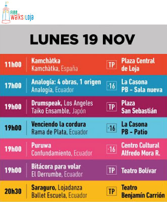Arts Festival Monday November 19th Loja Ecuador