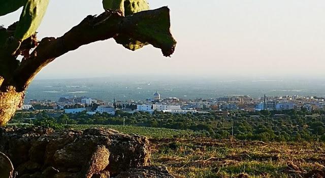 Panorama di Massafra da masseria Pantaleo