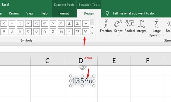 Cara Membuat Derajat Di Excel Menggunakan Fitur Equation
