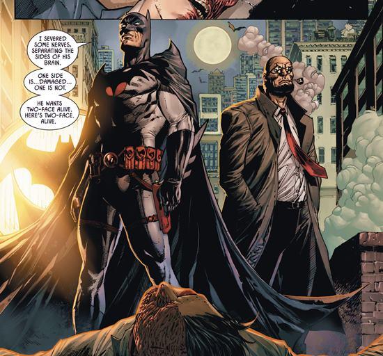 En Ciudad de Bane vemos al Batman de Flashpoint y a Hugo Strange