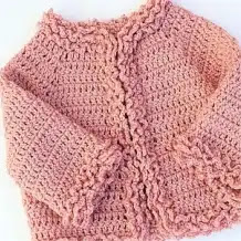 Chaqueta de Invierno de Bebé a Crochet