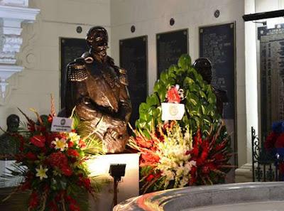 El Ejército conmemoró 149º aniversario de la muerte del Gran Mariscal del Perú Ramón Castilla