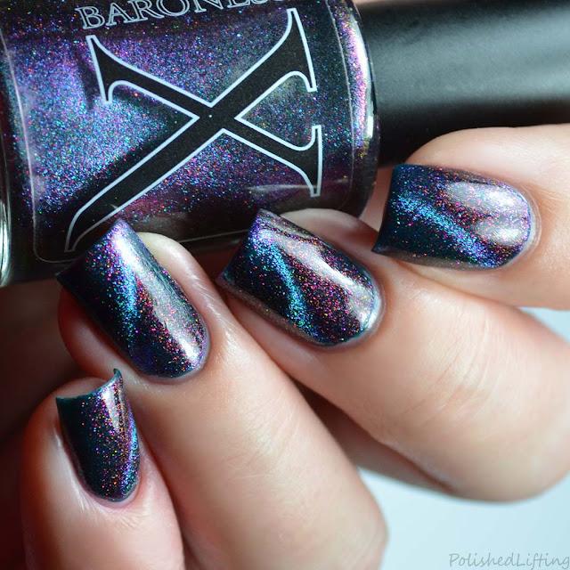 magnetic cat eye color shifting nail polish