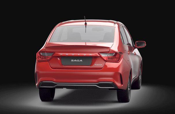 Proton Saga 2019 Rear View